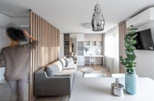 Nordic White - small flat project by Dovile Sakevice
