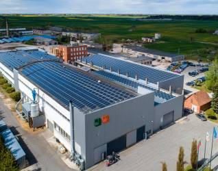 Ecohardwood flooring is produced using green energy