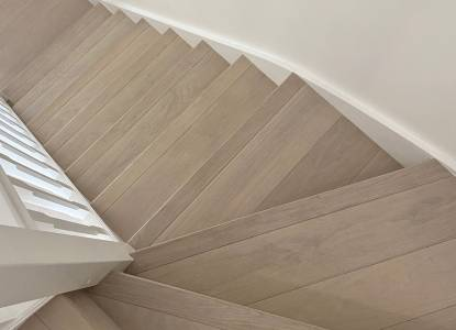 Stair cladding, Nordic White, Select grade, Woking, Surrey, UK