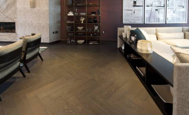 Black oak flooring